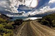 Mochileiro e o Lago General Carrera