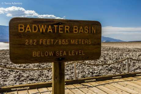 Badwater, 85,5 metros abaixo do nível do mar