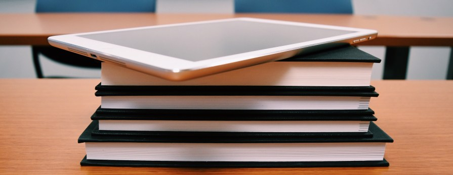 Book stack with iPad on top