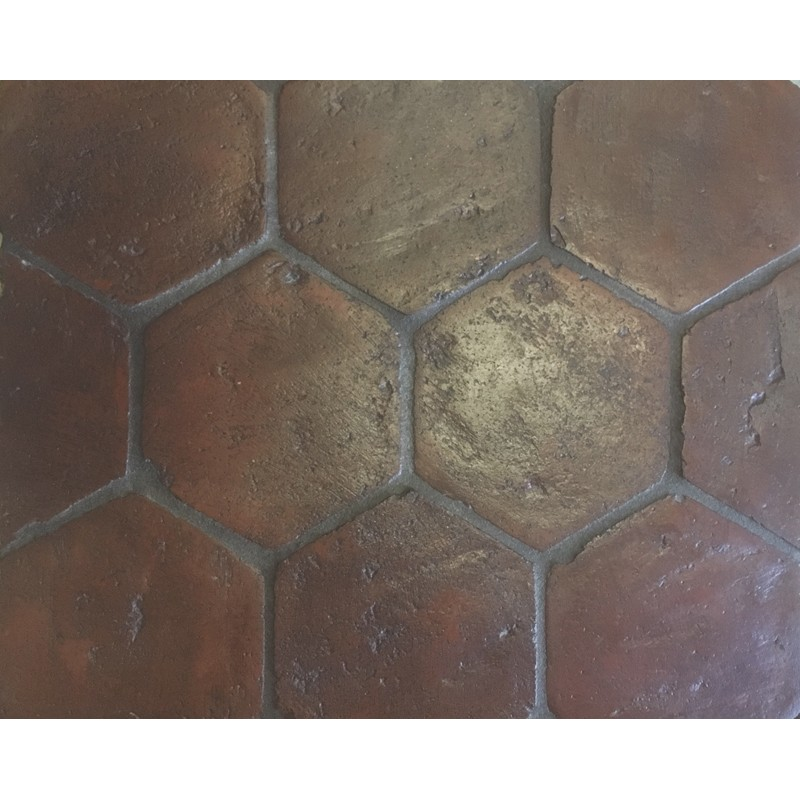 handmade terracotta hexagon design 150 x 150 x 20mm