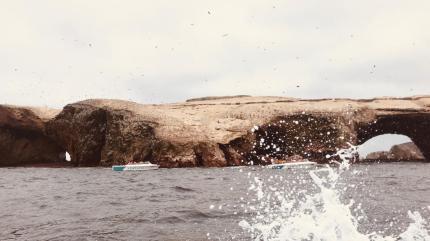 Veduta durante il tragitto per le isole