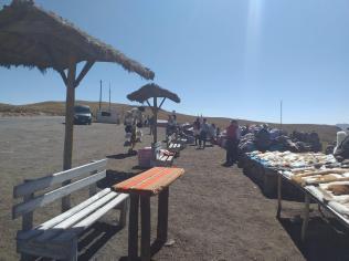 Mercato sulla strada da Arequipa a Puno