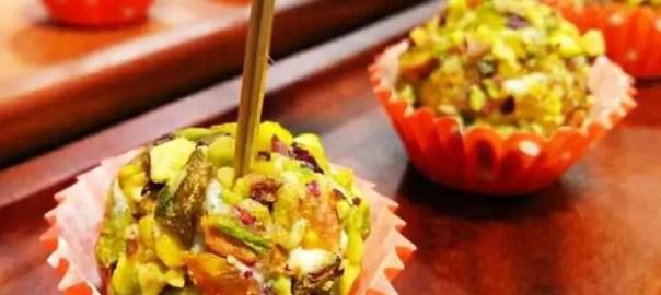 Receta de bolitas de queso con pistacho