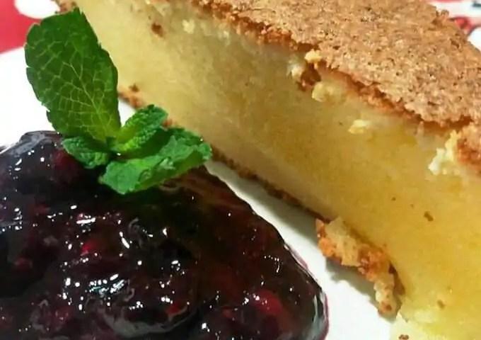 Receta de pastel de queso manchego