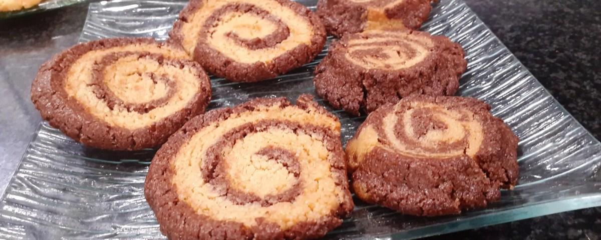 Receta de galletas bicolor