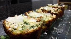 Receta de cake de espinacas, pasas y piñones