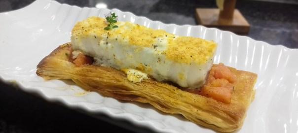 Receta de bacalao con crema de queso
