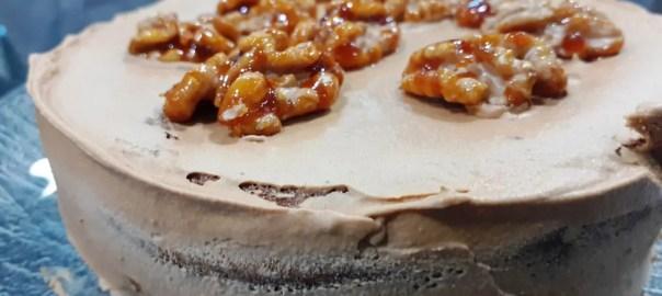 Receta de pastel de nueces