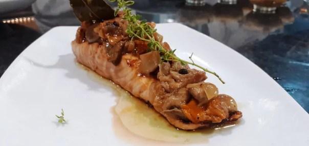 salmón en escabeche con setas