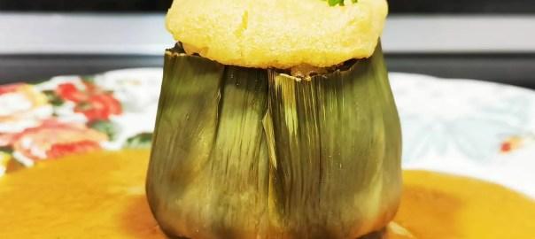 Receta de alcachofas rellenas de marisco
