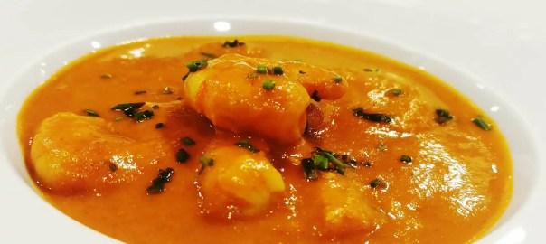 Receta de curry de langostinos