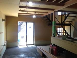 木造住宅内装工事中の写真
