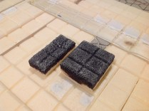 Couple of gravel test pieces to make sure i could still see the square edges after painting