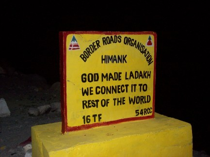 God made Ladakh we connect it to the rest of the world