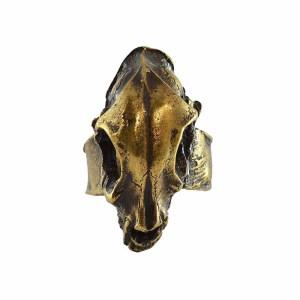 Anillo Cráneo Bronce