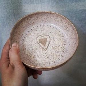 Plato cerámica pink