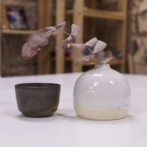 Bol cerámica torneado metal