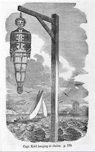 hanging of captain kidd