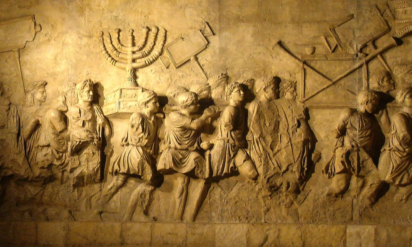 arch-of-titus-menorah-carving-caesars-messiah-documentary