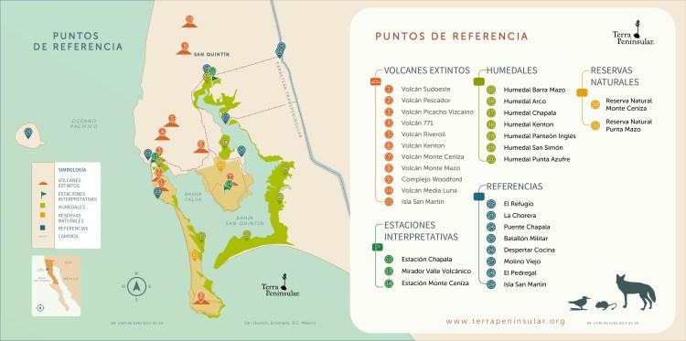 Mapa puntos de referencia San Quintín