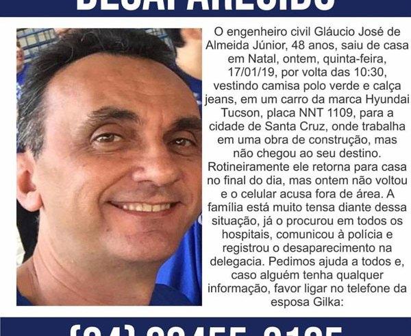 Família procura engenheiro civil que desapareceu a caminho de Santa ... 9b6cd8de5eb