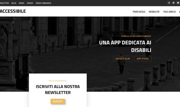 Siena Accessibile, alla App si affianca un website