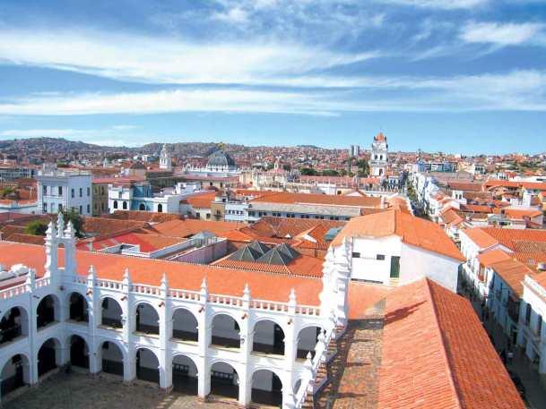 Visita della città di Sucre dalla terrazza dell'Oratorio di San Felipe Neri