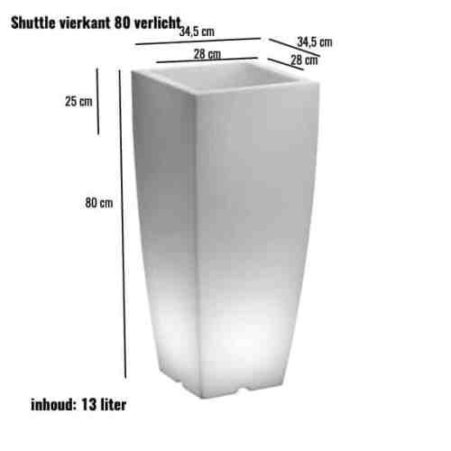 Shuttle verlicht