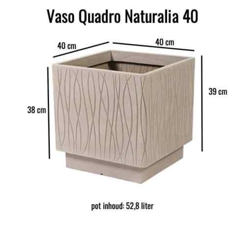 Vaso Quadro Naturalia 40 Avana MV