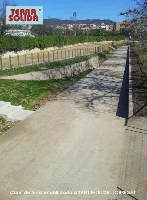Camí estabilitzat TERA SOLIDA a sant Feliu de LLobregat