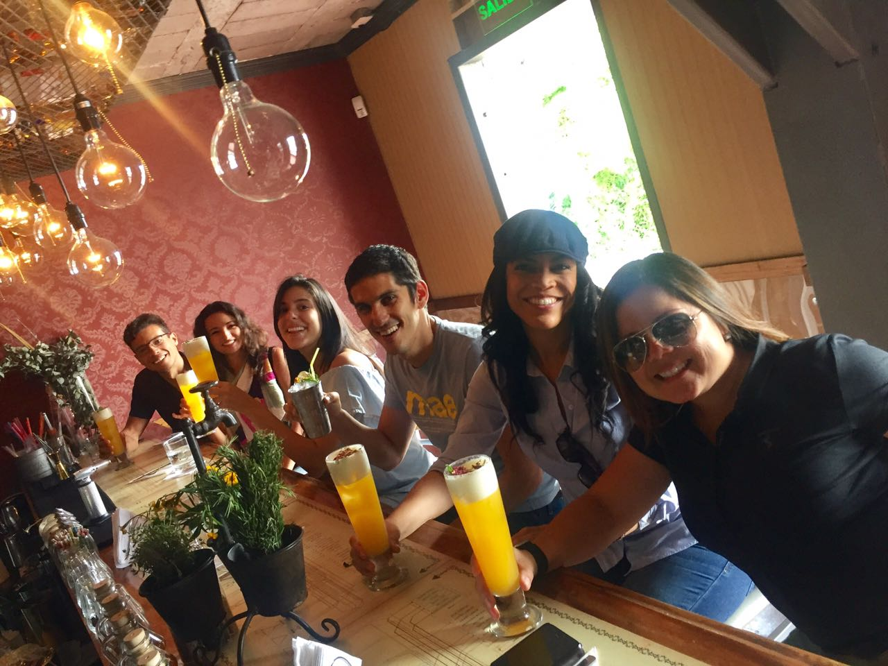 Cheers for what is coming up a tasty gastronomical experience of our foodie city tour Escalante