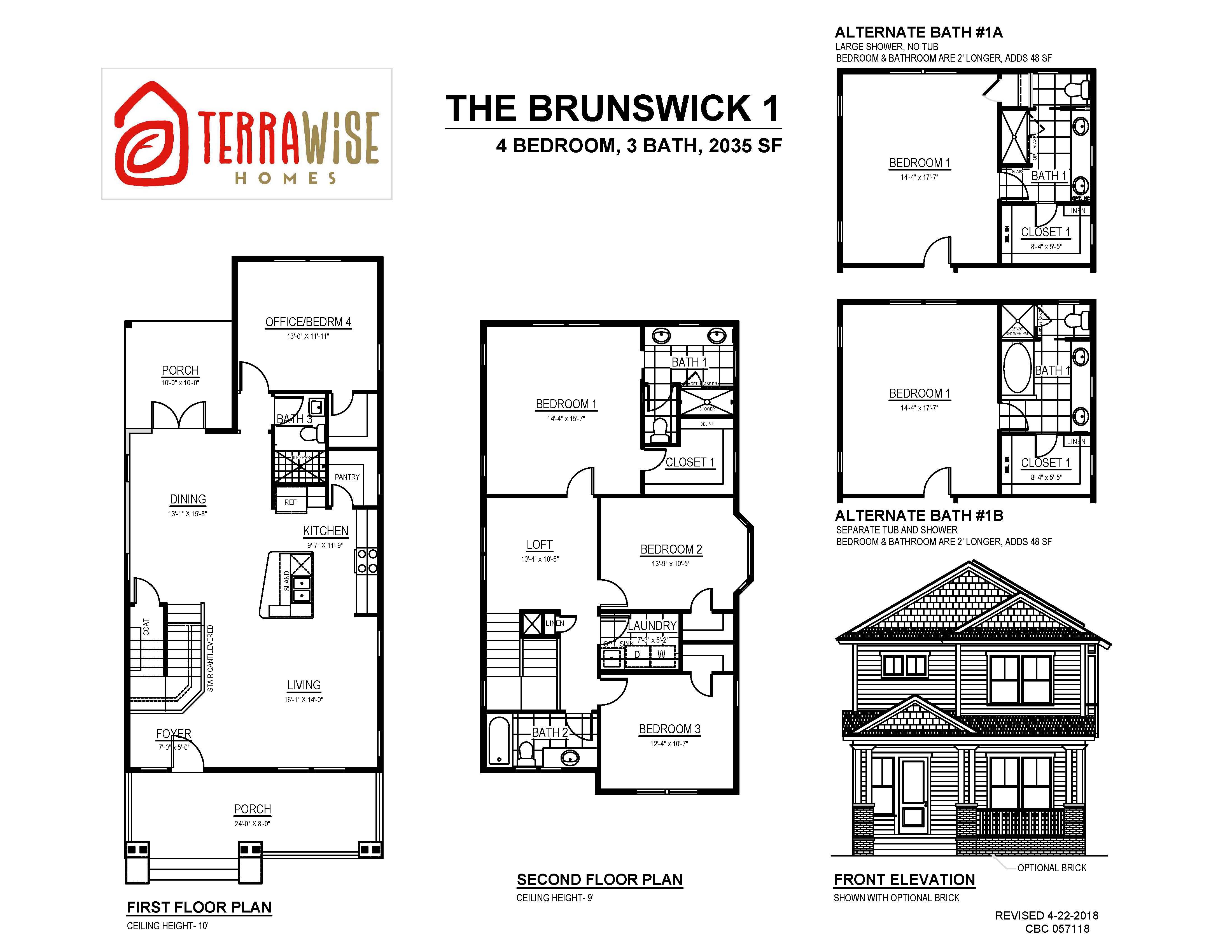 The Brunswick Sf 4br 3ba 2 Story
