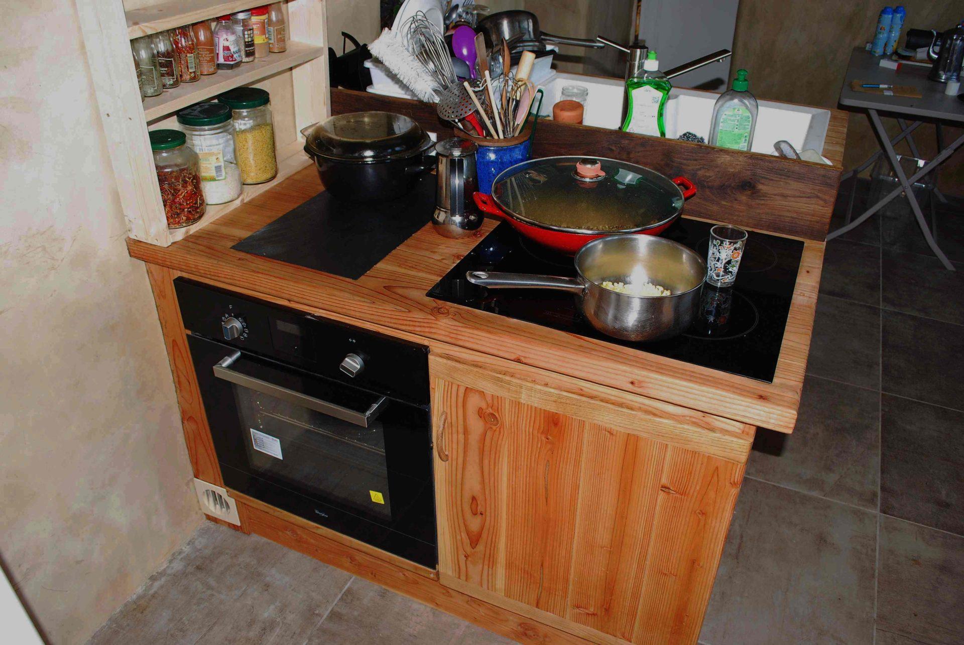 cuisine amenagee en douglas massif