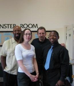 Rob, Devon, Tim, and me
