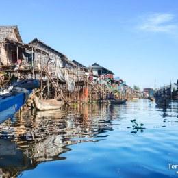 Poblados flotantes en el lago Tonle Sap
