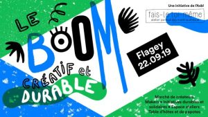 Affiche du Boom créatif et durable organisé par Fais-le toi-même