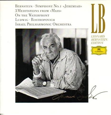 "Album Cover, Bernstein: Symphony No. 1 ""Jeremiah""; 3 Meditations from ""Mass""; On the Waterfront"
