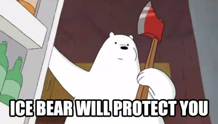 ICE BEAR WILL PROTECT YOU