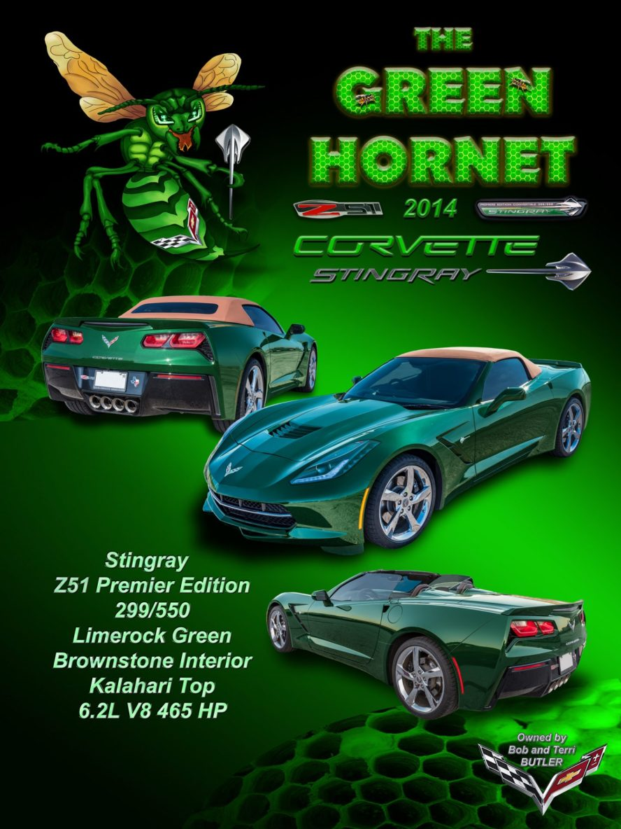 Green Hornet display board-2