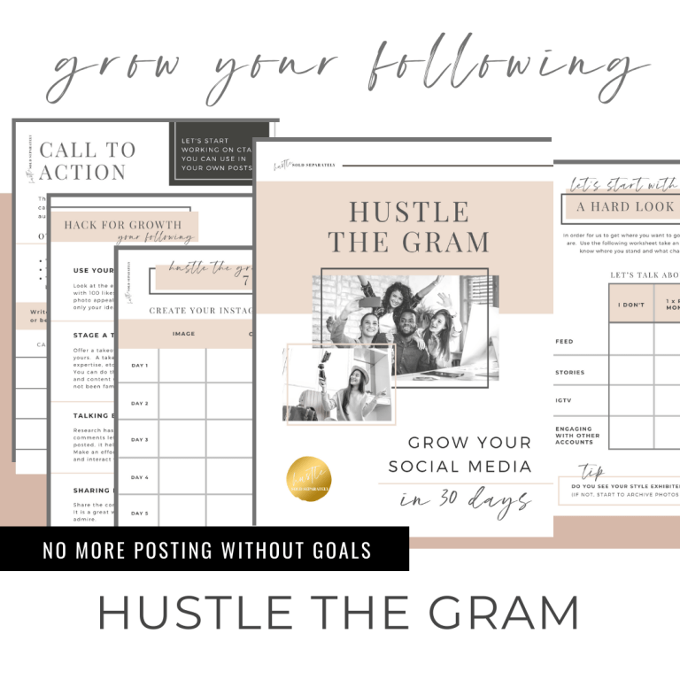 Hustle The Gram Social Media Mastery for Wedding Pros