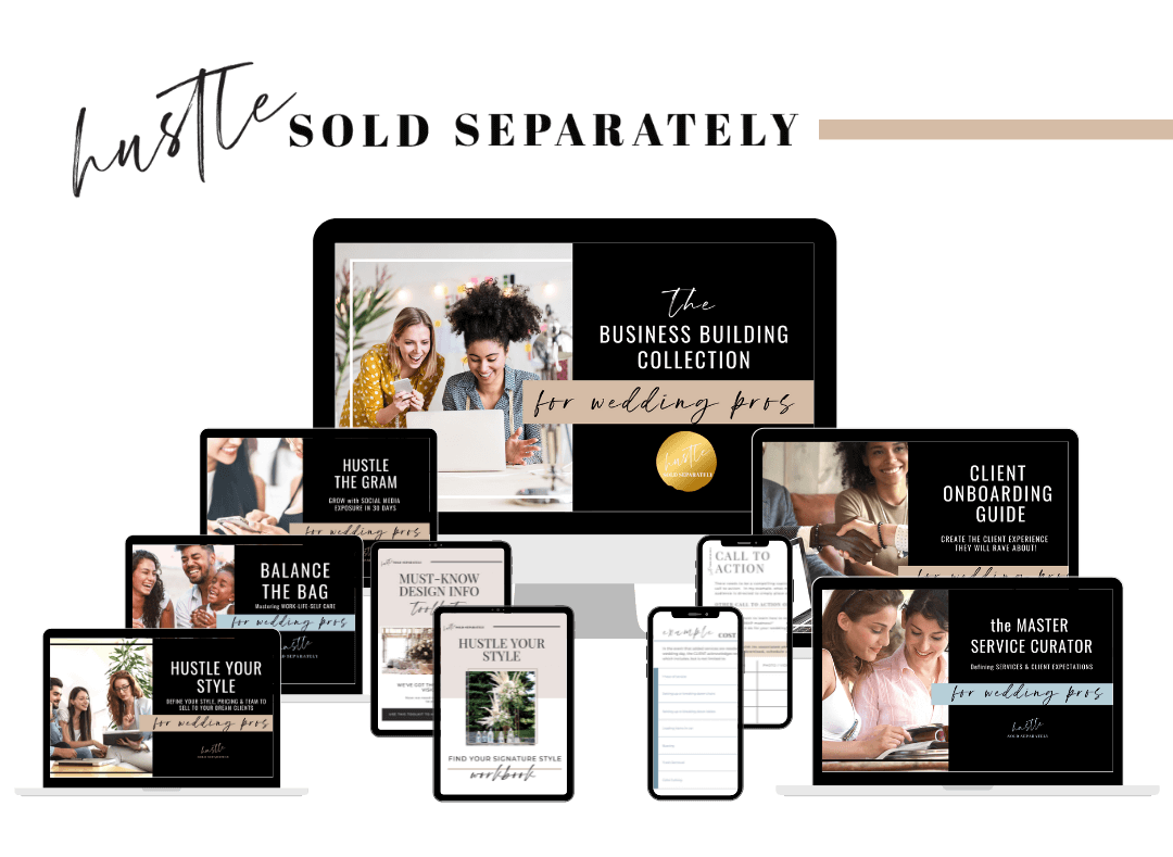 The Ultimate Collection of Business templates, tools and guides for Wedding Pros