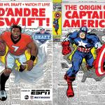 Espn And Marvel Reimagine Comic Book Covers For The Nfl Draft Marvel