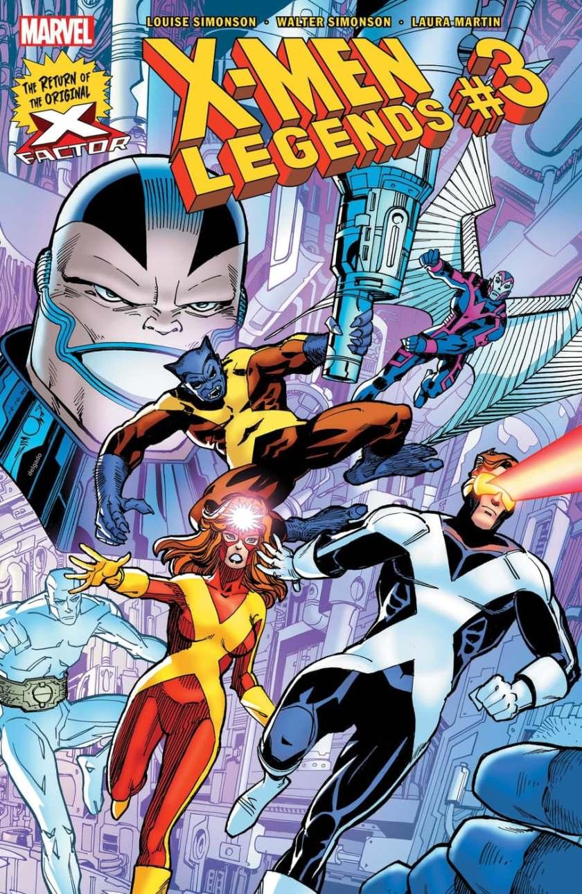 X-MEN LEGENDS # 3 cover di Walter Simonson