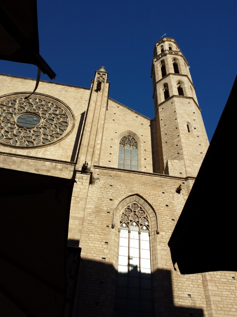 14th century Catalan Gothic church in Barcelona, Spain