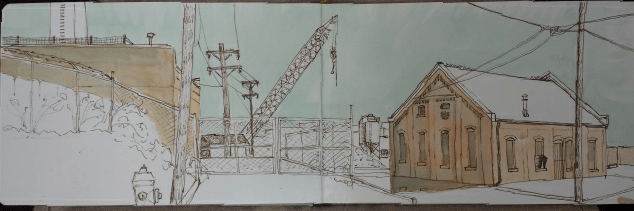 Urban sketching in Rock Bay, Victoria