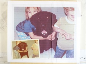 Snap shot from the 1970's as a reference for the dog portrait