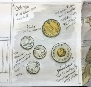 Inktober coin collection