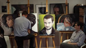 Portrait of Ryan, acrylic on canvas.