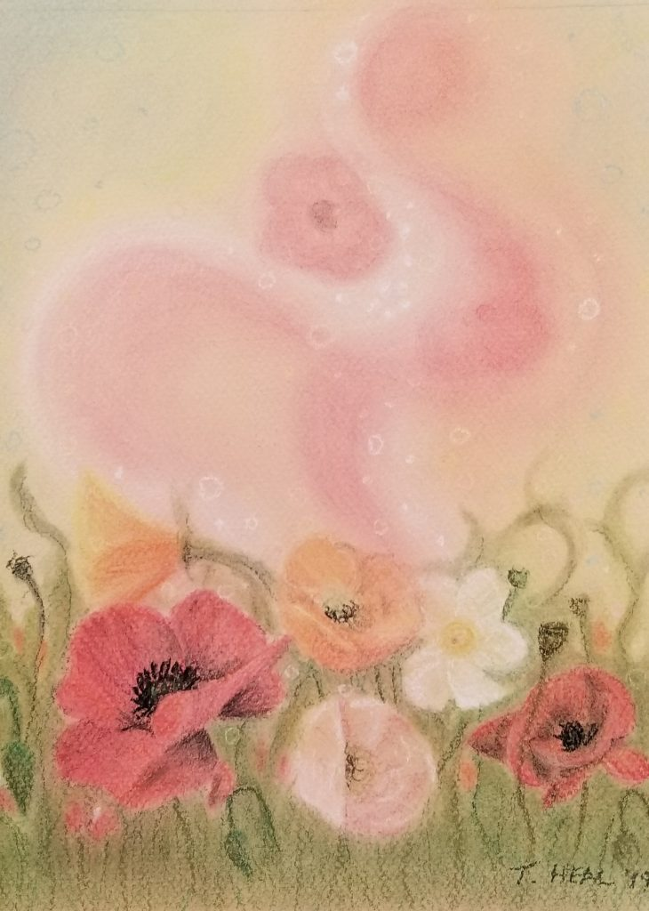 Hypnotic Swing, chalk pastels