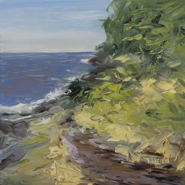 New Growth West Coast in late May 8 x 8 inch oil on gessobord by Terrill Welch 2013_06_01 024